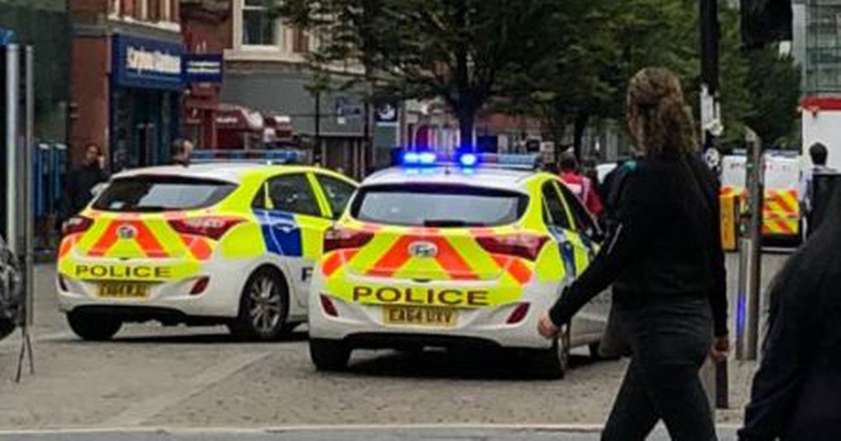 Large police presence on market street as suspected aldi