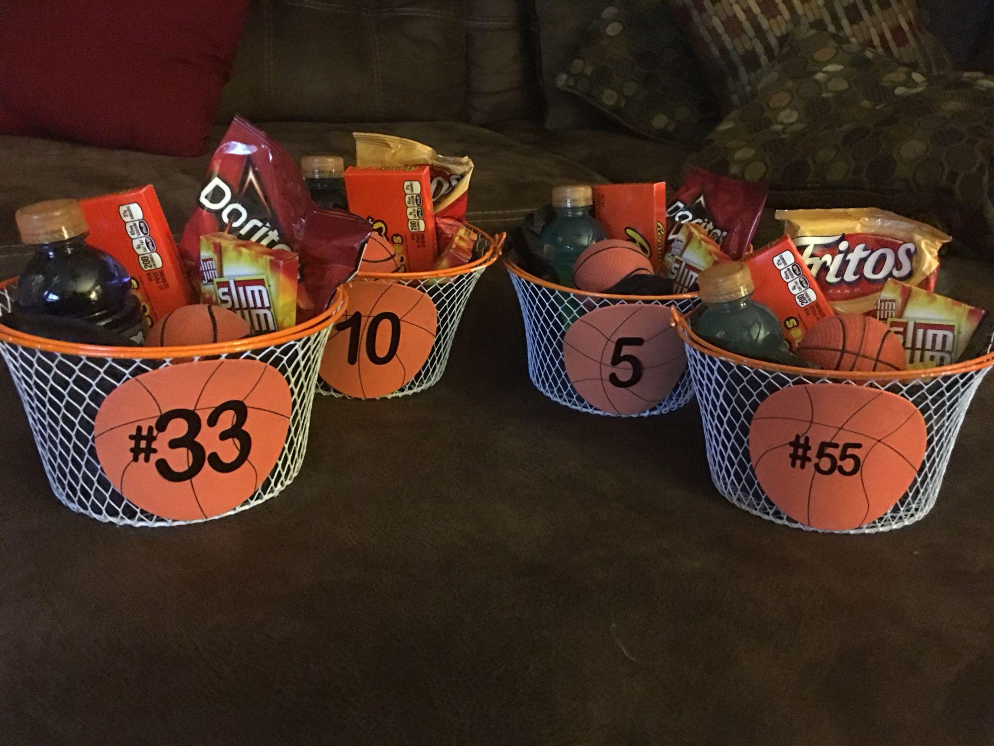 8th Grade Basketball Gift Baskets Basketball Gifts Basketball Birthday Parties Basketball Player Gifts