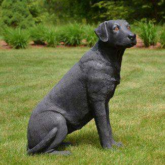Life Size Black Labrador Dog 32 H Black Labrador Dog Black