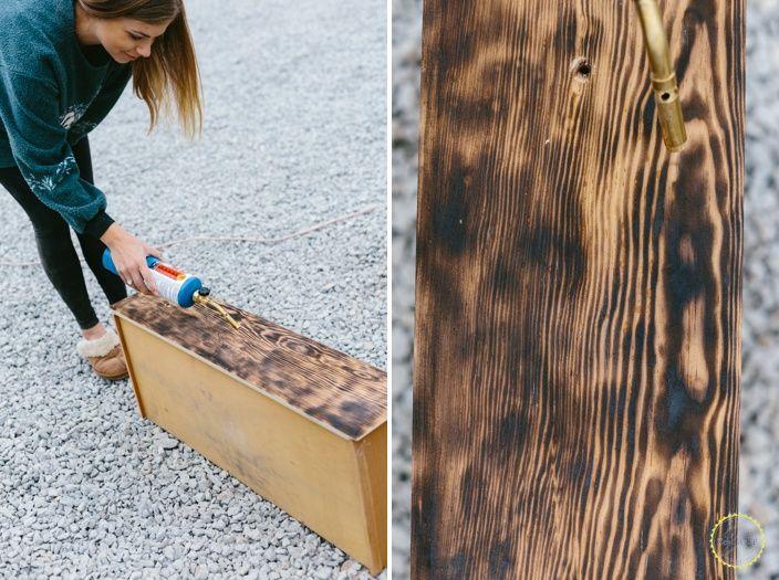 How to DIY Burned Wood Finish  Burnt wood