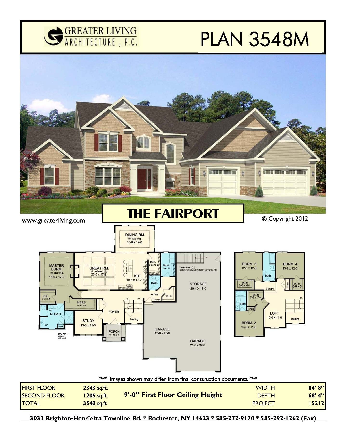 plan 3548m the fairport house plans two story house plans 1st