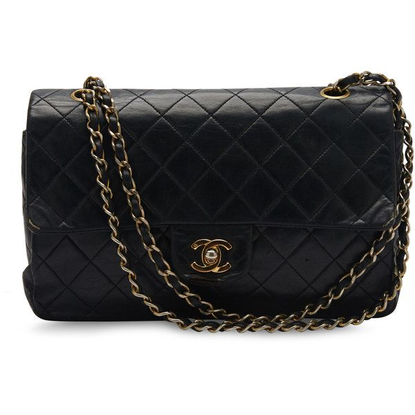 Pre-owned Chanel Shoulder Bag ($1,724) ❤ liked on Polyvore featuring bags, handbags, shoulder bags, purses, apparel & accessories, wallets & cases, genuine leather shoulder bag, leather hand bags, leather purse and chanel purses