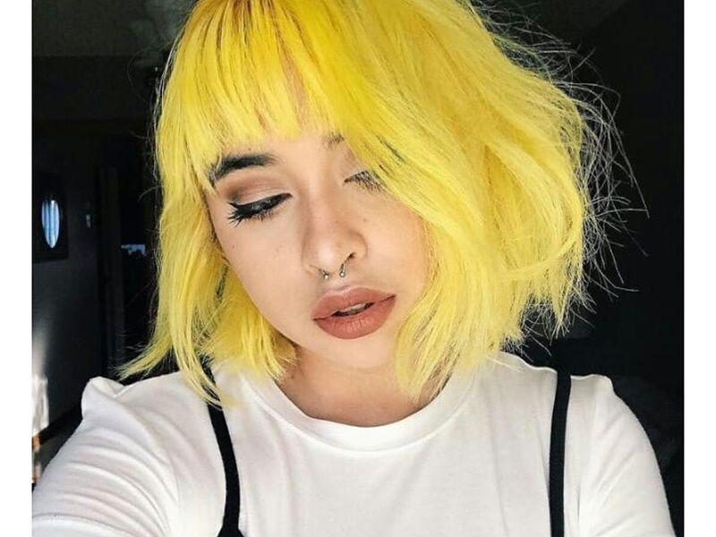 45 Of The Most Beautiful Short Hairstyles Shared On Instagram November 2018 Hair Styles Vivid Hair Color Hair Color Pastel