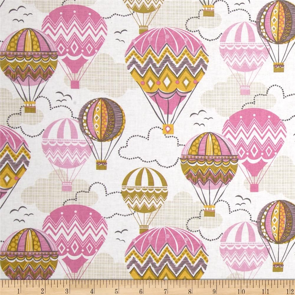 Blown Away Balloon Ride Pink from @fabricdotcom Designed by ...