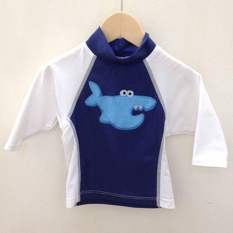 Flap Happy Long Sleeve Shark Rash Guard – Petite Étoile Children's Clothing Boutique in Salem, MA
