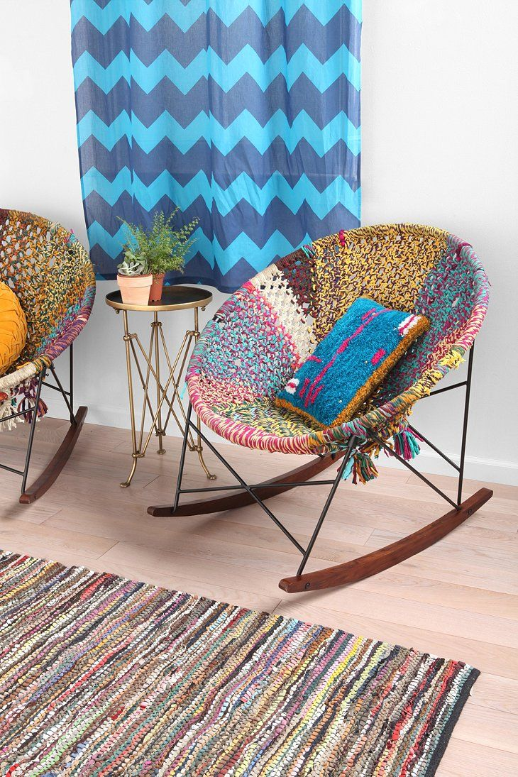 HandWoven Rocker Decor, Indian living rooms, Rocking chair