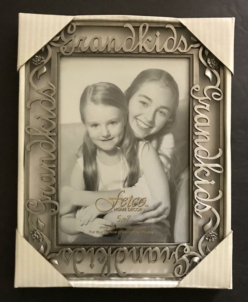 Fetco Home Decor 5 X 7 Pewter Frame Grand Kids Roses New In Box