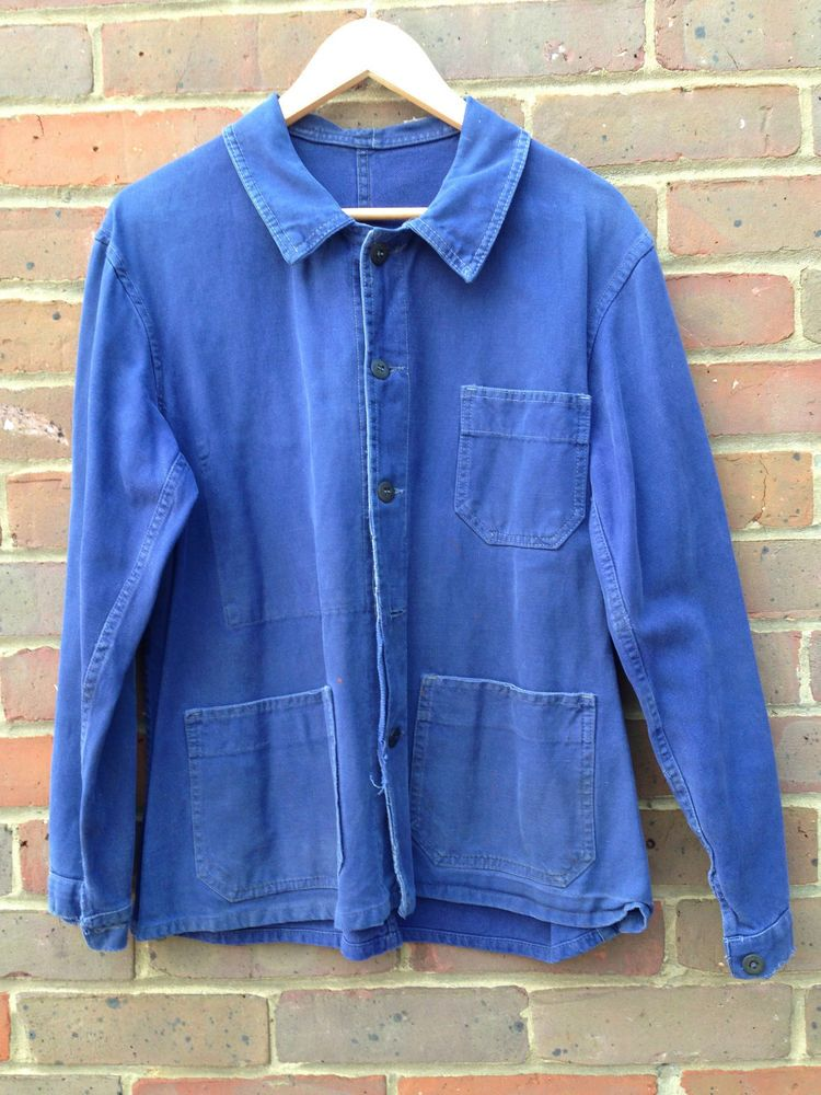 Vintage French Work Wear Chore Jacket Chore Jacket Work Wear Casual Jacket