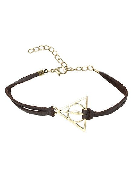 Harry Potter Deathly Hallows Cord Bracelet | Hot Topic