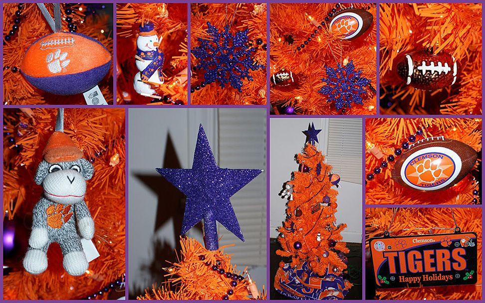 Clemson University Themed Christmas Tree