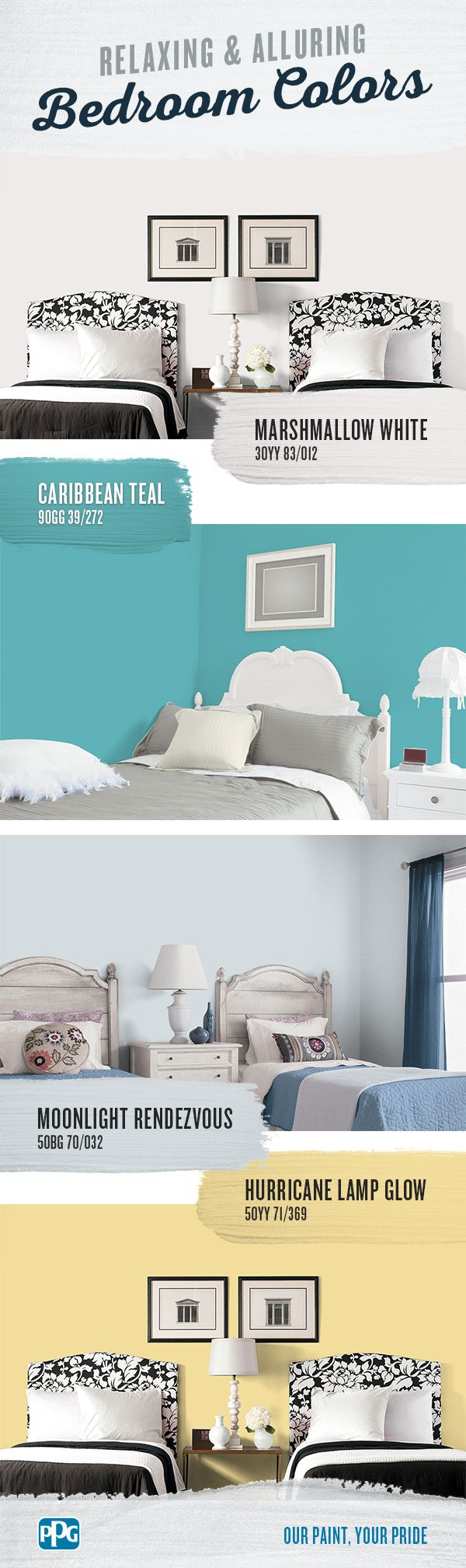 bedroom color guide Relaxing and Alluring Bedroom Colors | A good guide for bedroom  2017 X 600