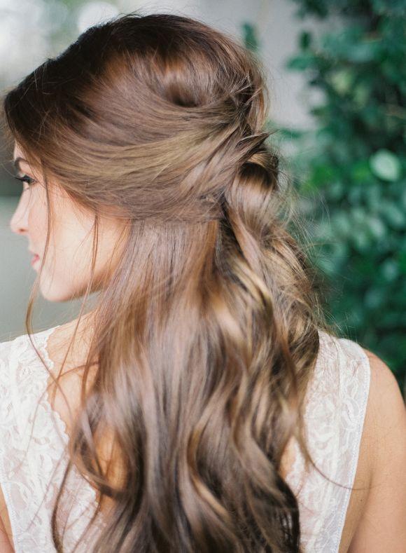 Simple Natural Boudoir Session Wedding Photography Bridal Hair Half Up Simple Wedding Hairstyles Wedding Hair Down