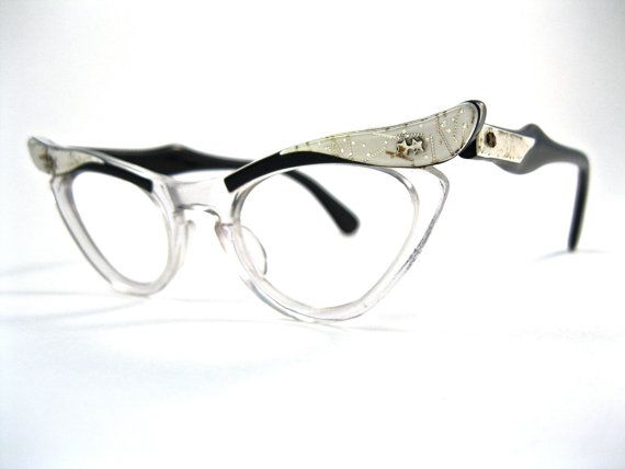white and black layered cat eye glasses, $70.00