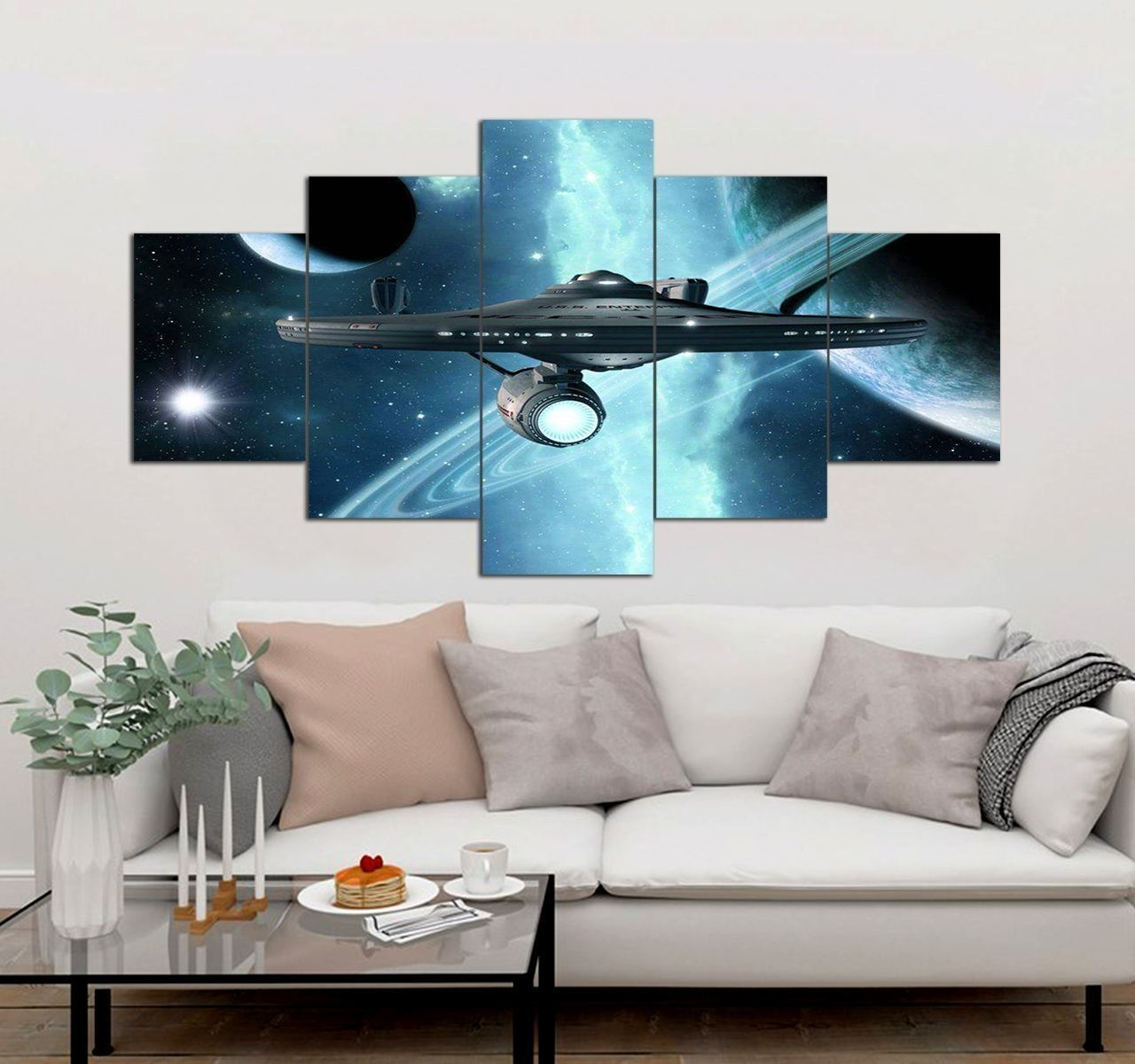 Star Trek Canvas Wall Art Set 5 Piece Canvas Art Prints Decor Movi Trong 2020