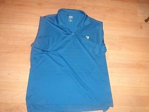 Adidas Climalite Golf Shirt Mens Teal Large