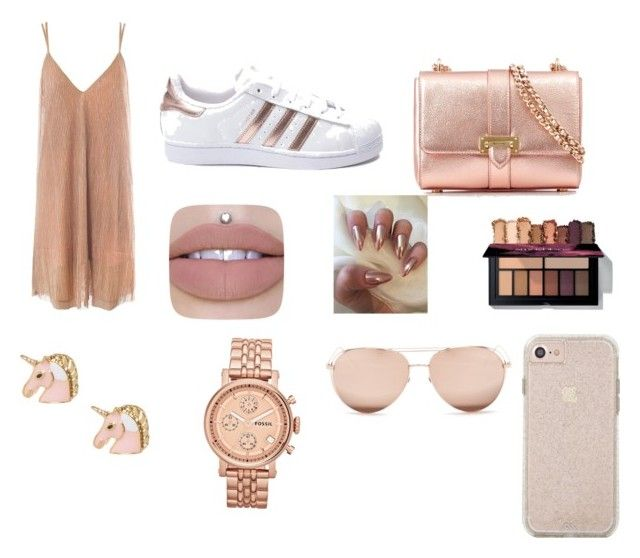 """Untitled #2"" by didemm22 on Polyvore featuring adidas, Sans Souci, Aspinal of London, FOSSIL and Linda Farrow"