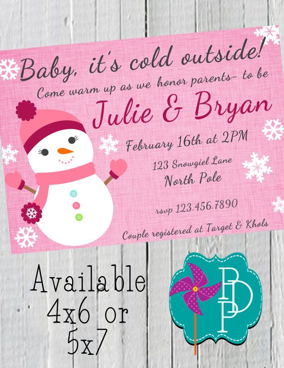 Winter Snowman Baby Shower Invitation By Polkadotpinwheel On Etsy