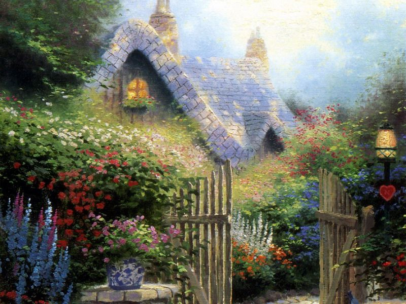 17 Best 1000 images about Garden Paintings Illustrations on