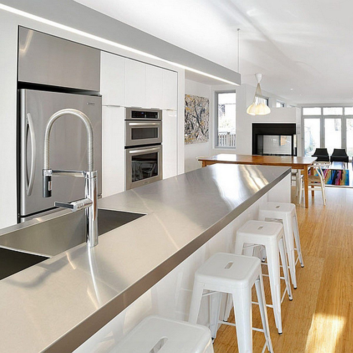 10 Kitchen Countertop Ideas People Are Doing Right Now Kitchen Countertops Outdoor Kitchen Countertops Stainless Steel Kitchen Cabinets
