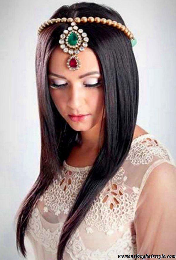 Easy Straight Long Wedding Hairstyles With Tiara Slutty Mermaid