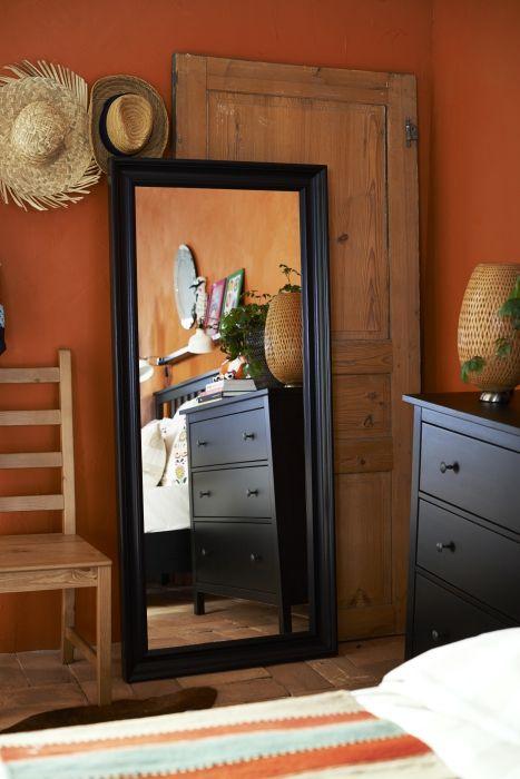 hemnes spiegel zwartbruin slaapkamers hemnes bedroom. Black Bedroom Furniture Sets. Home Design Ideas