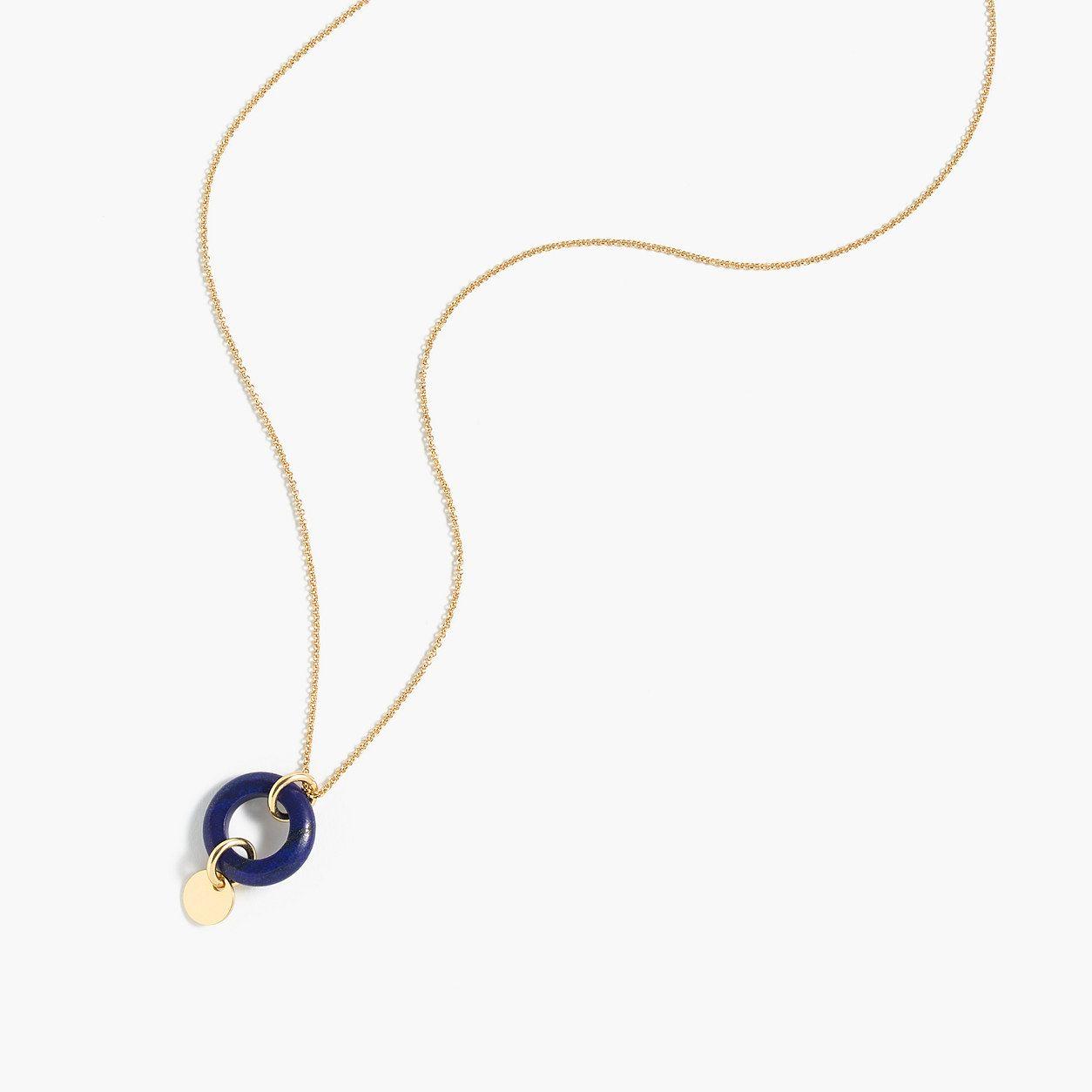 Jcrew womens circle pendant necklace jewelry ue charms u pendants