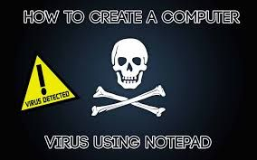 how to create virus using notepad