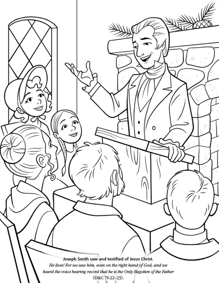Lds Games Color Time Joseph Smith Saw And Testified Of Jesus