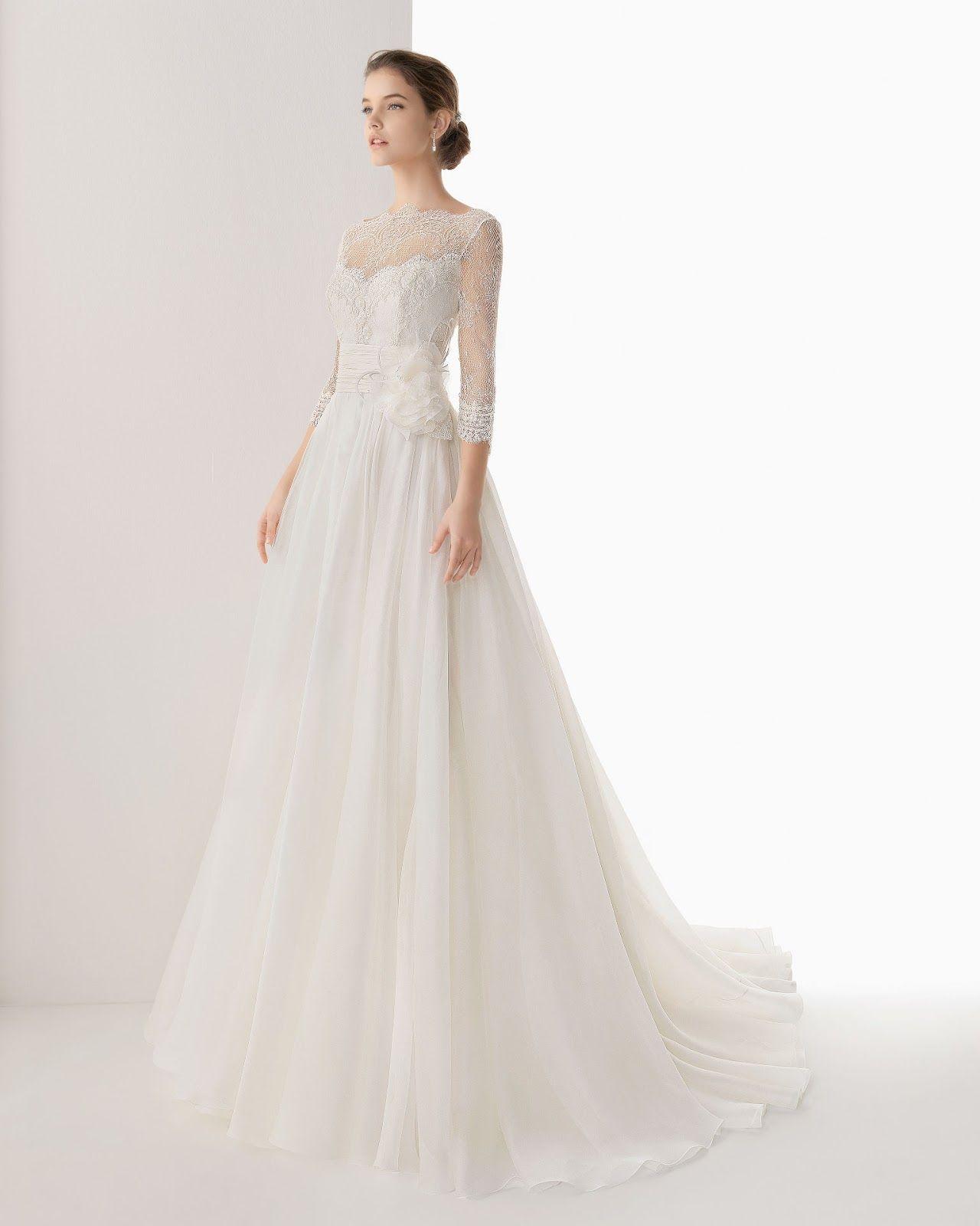Long Sleeve Wedding Dresses 2014