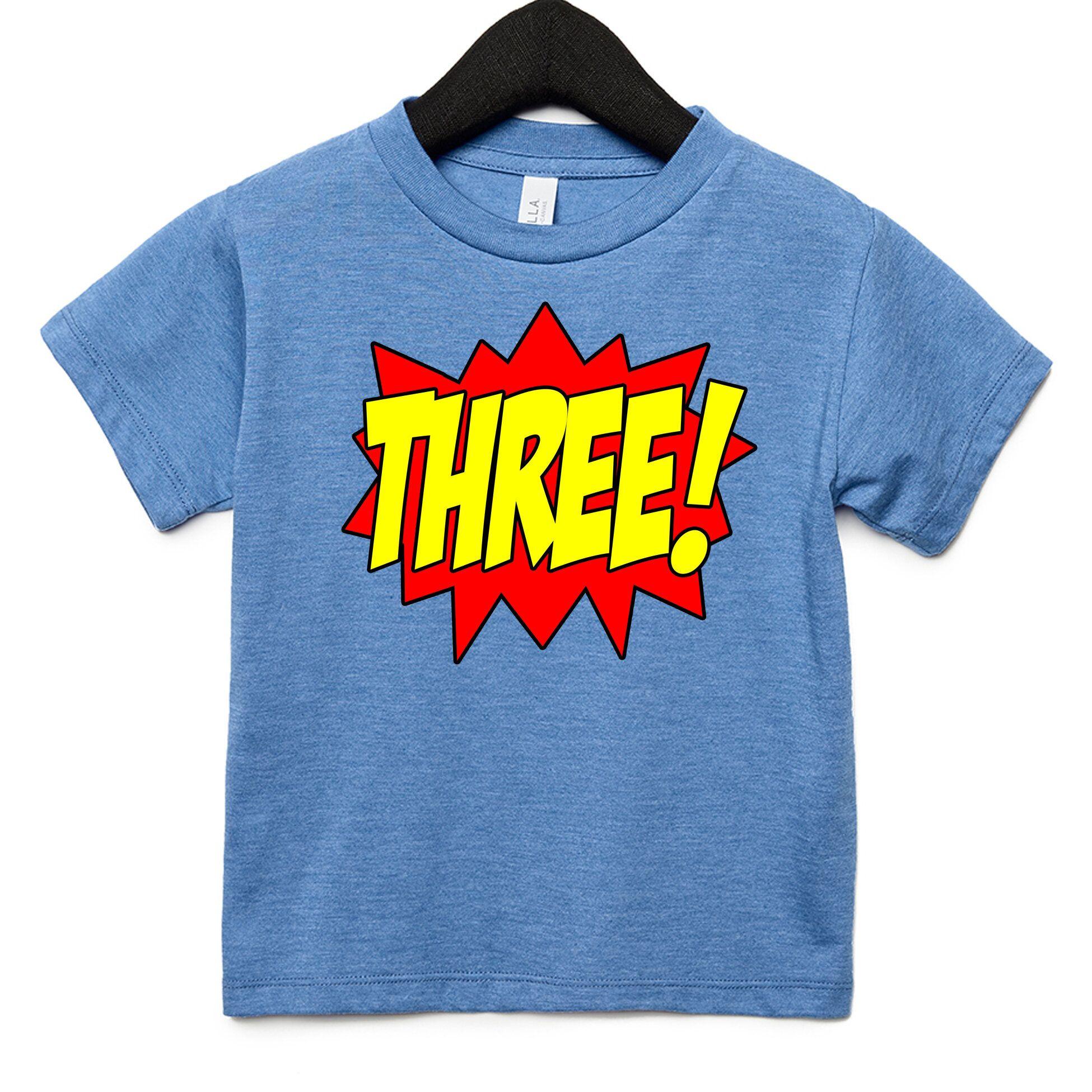 Superhero Boy Third Birthday Kids T-Shirt in 2020 ...