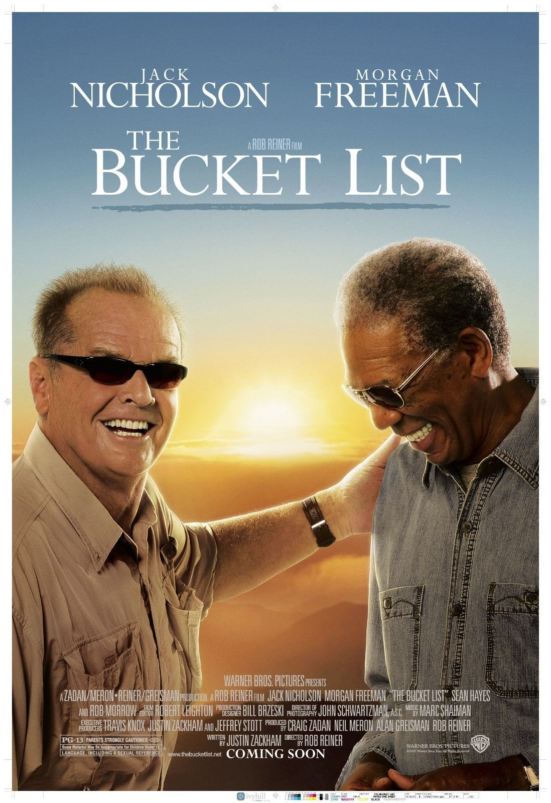 the bucket list movie poster print 11x17 morgan freeman jack