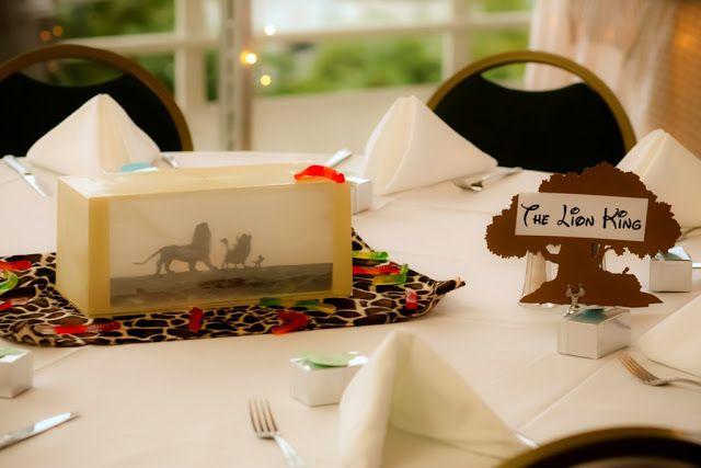 Ultimate Disney Weddings Centerpieces The Lion King Disney