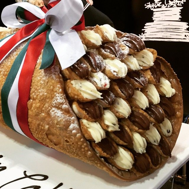A Giant Cannoli Stuffed With #cannoli #foodpic #ohmy
