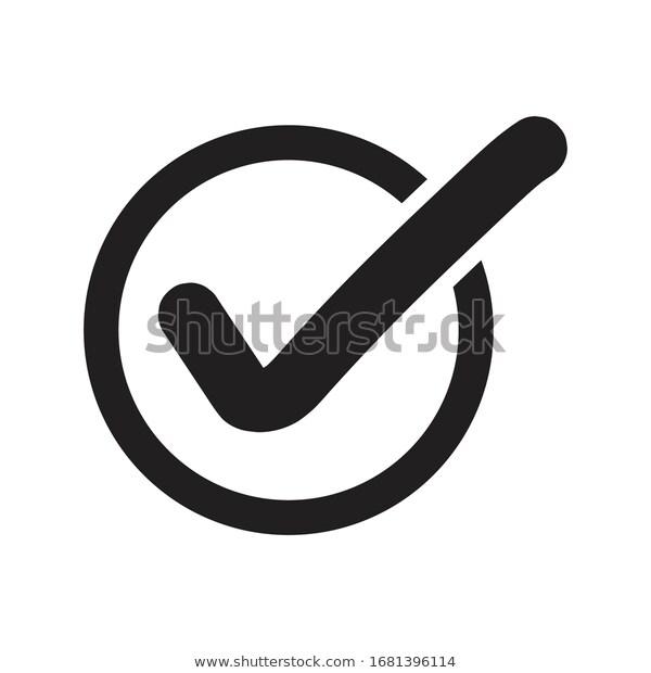 Check List Button Icon Black Version Technology Signs Symbols Stock Image Icon Checkmark Icon Checklist Vector Images