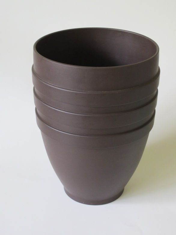 Wedgwood Vase Designed By Keith Murray Produced In Bronze Basalt