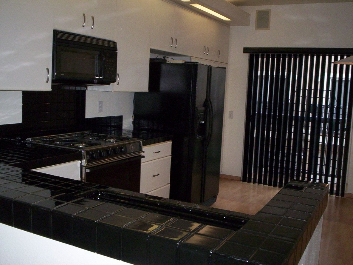 Black Kitchen Tile Pkb Reglazing  Tile Kitchen Countertop Reglazed Black
