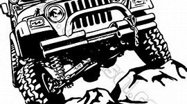 Jeep Wrangler Vector Clip Art
