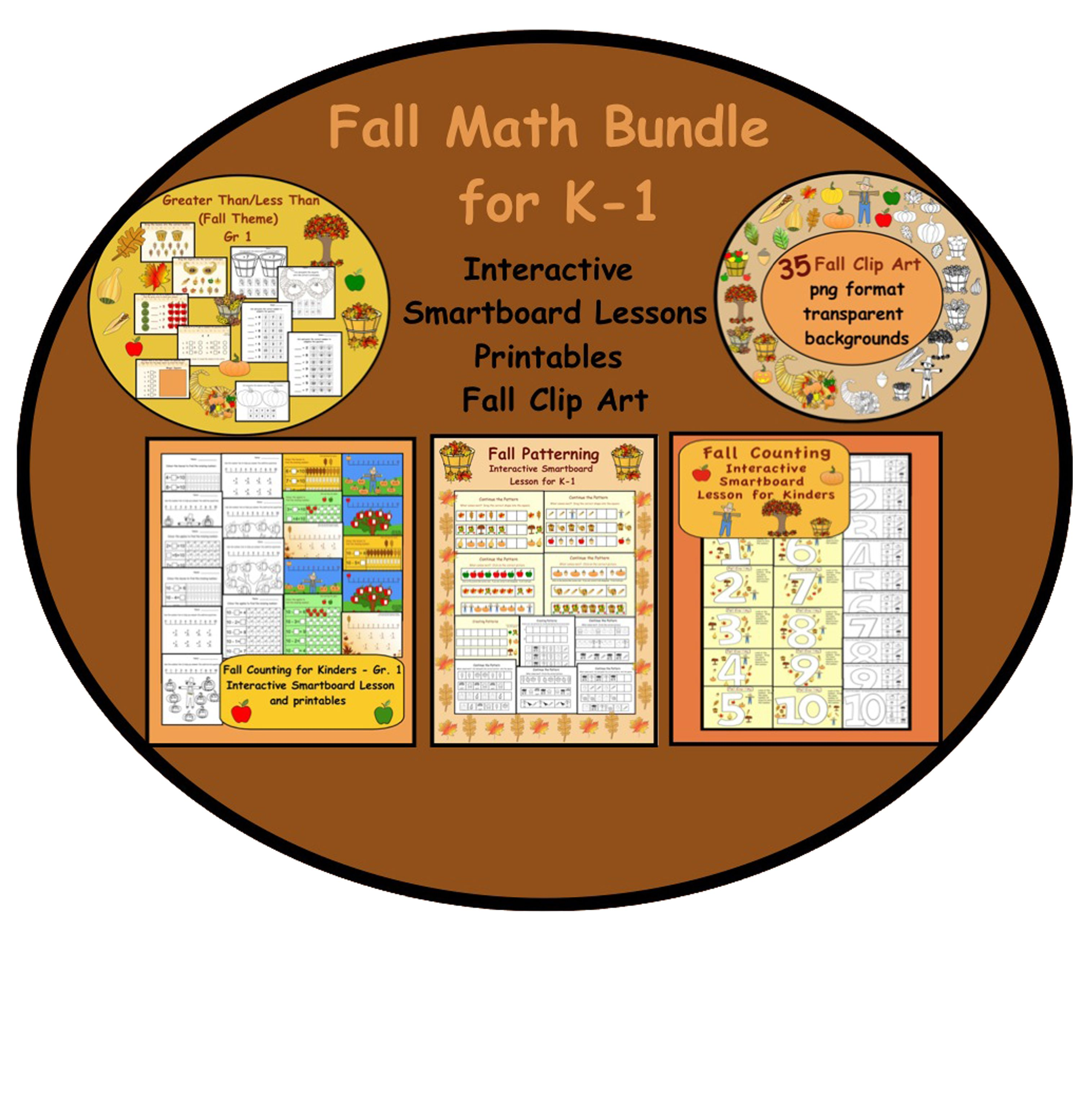 Fall Themed Smartboard Math Activities For K 1