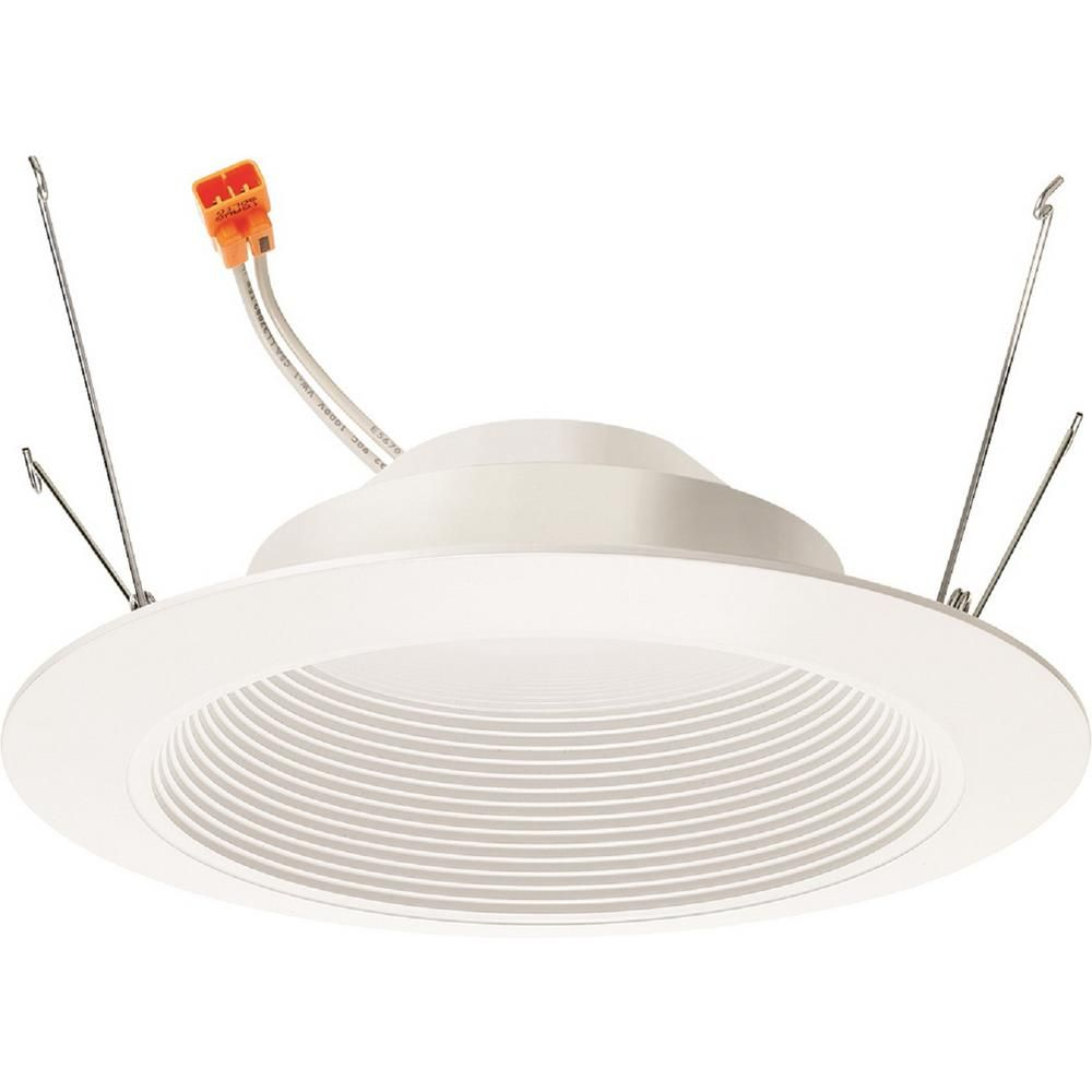 Juno Lighting Contractor Select Basics Series 6 In 2700k Warm White Integrated 700 Lumen Led Recessed Baffle Trim In 2020 Juno Lighting Recessed Light Bulbs Recessed Lighting Trim