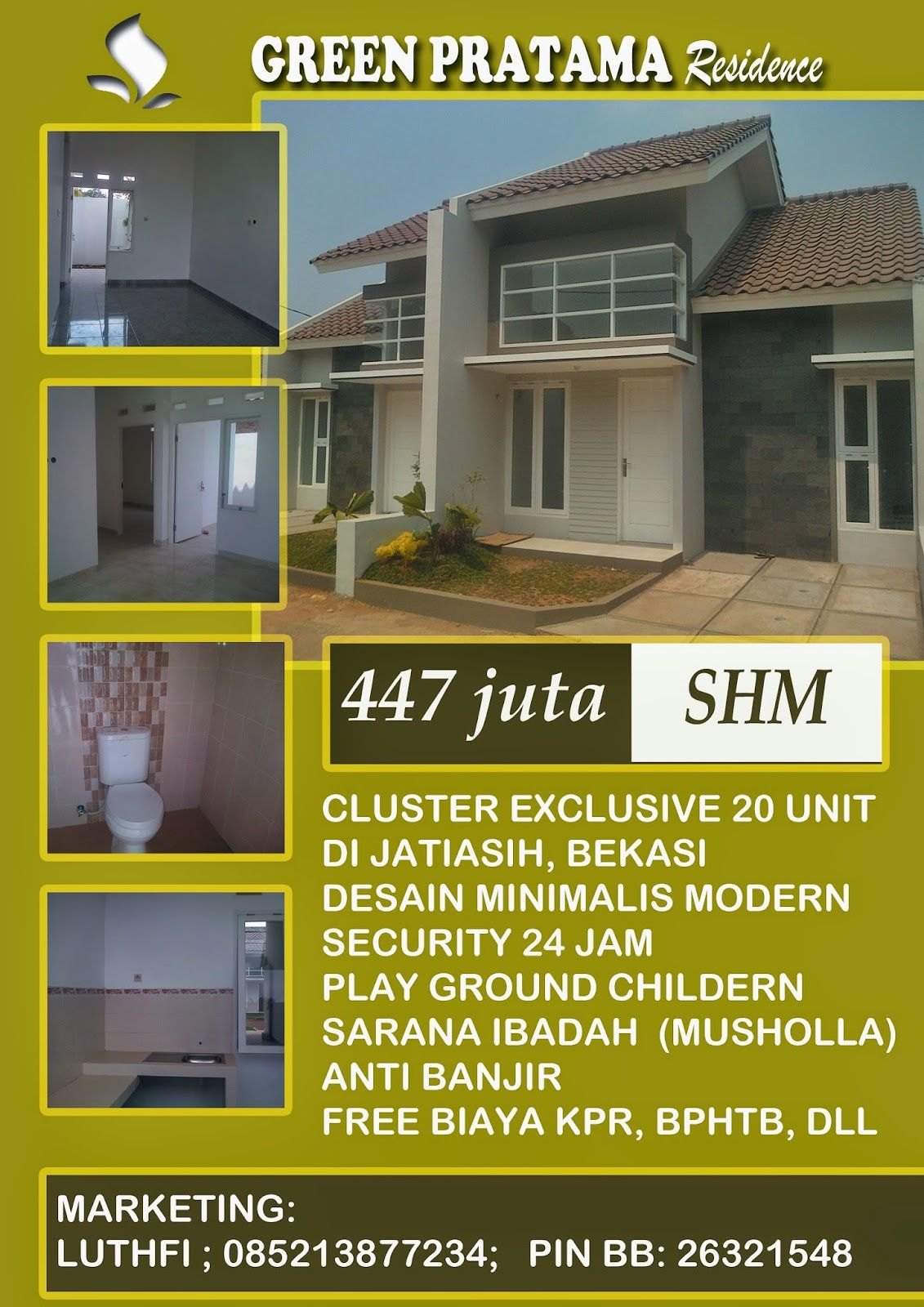 Galeri Properti Rumah Jatiasih Rumah Rumah Minimalis Modern