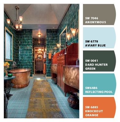 I Just Spotted The Perfect Colors Beautiful Bathrooms Copper Tub Teal Tile
