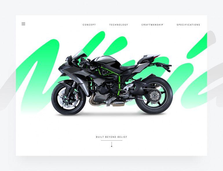 The Kawasaki Ninja H2 R Hypersport Motorcycle Landing Page
