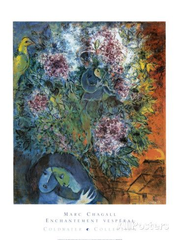 Enchantment Vesperal Prints by Marc Chagall at AllPosters.com