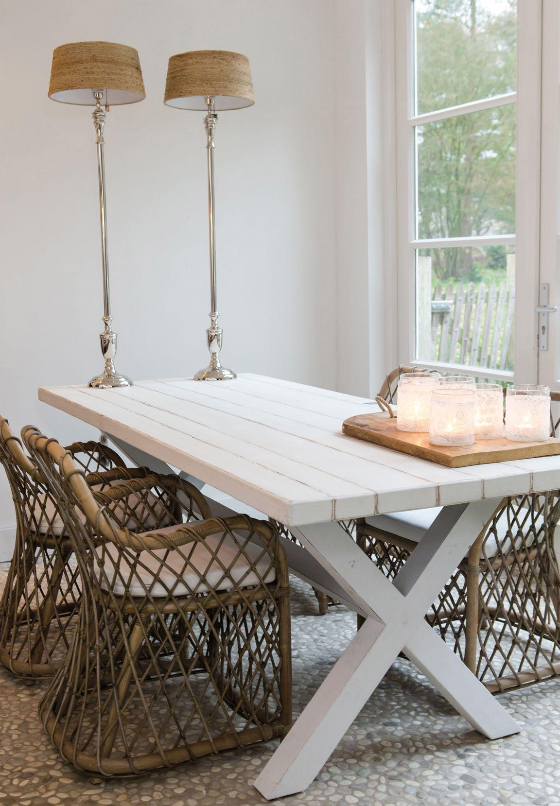 Riviera Maison sfeer aqua beige woonkamer inspiratie | Rattan ...