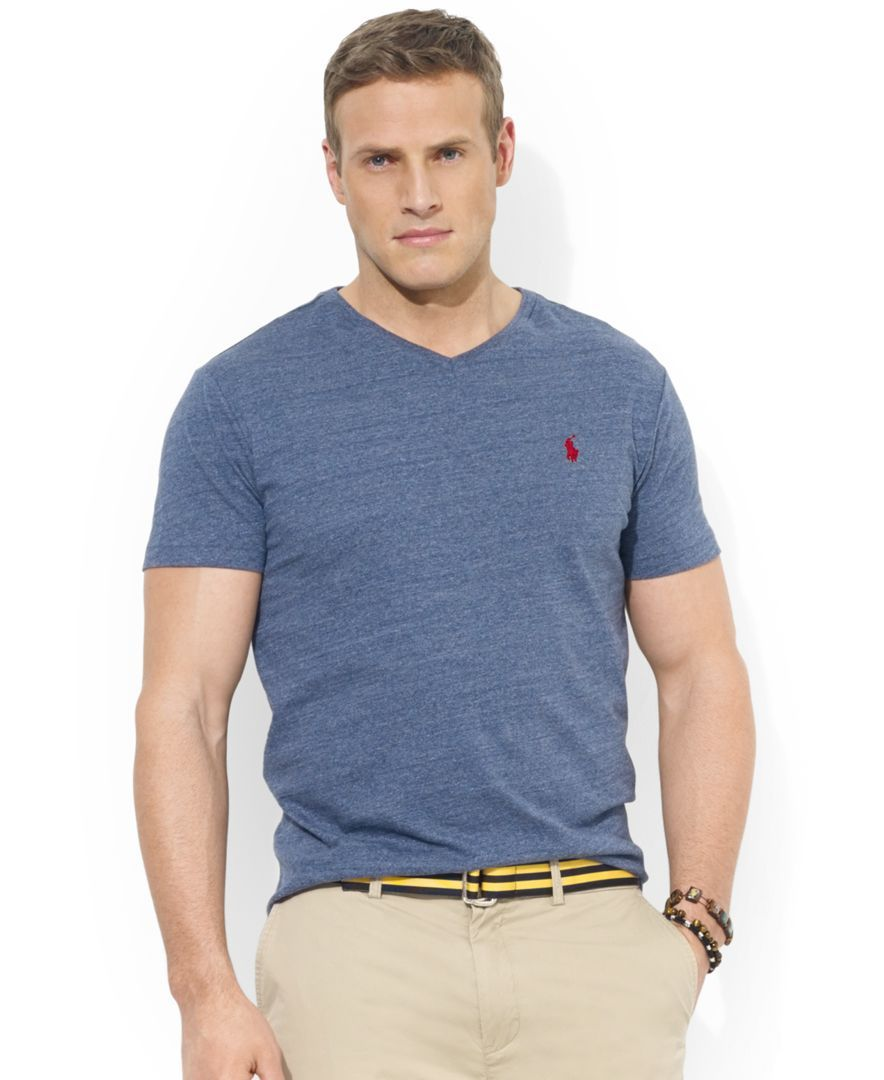 0b3ac314ca62 Polo Ralph Lauren Big and Tall Classic-Fit V-Neck Short-Sleeve Cotton  Jersey T-Shirt