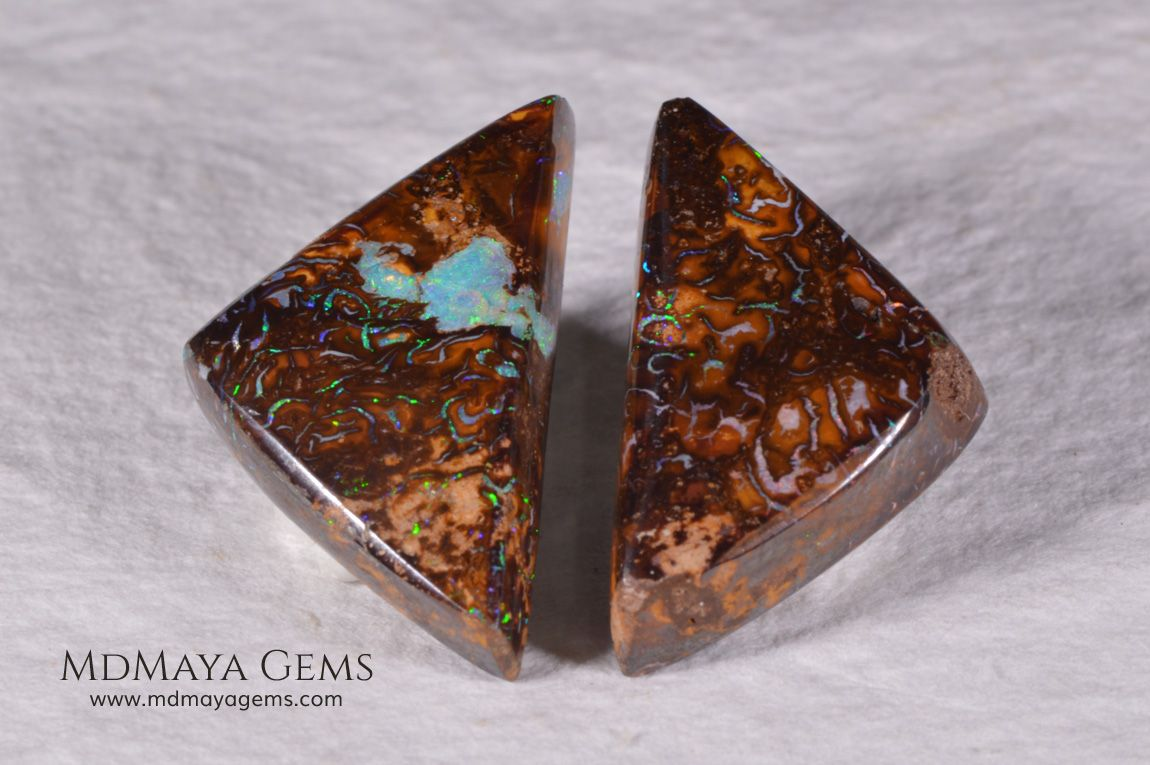 Australian Boulder Opal Pair 20.98 ct