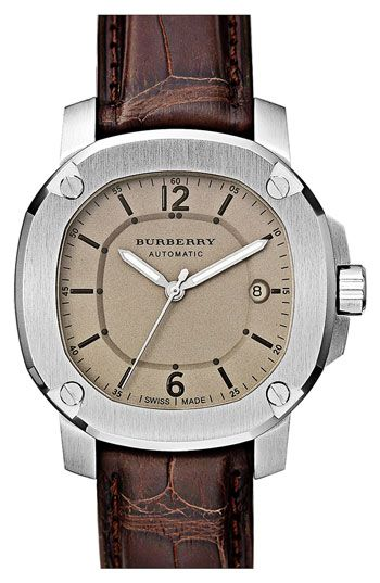 burberry alligator watch
