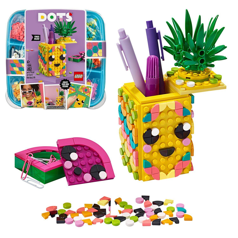 Buy LEGO DOTS Pineapple Pencil Holder DIY Craft Set   20   LEGO ...