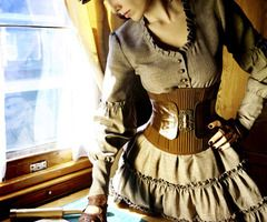I would love this for a Halloween costume! Perfect for October in Michigan. #steampunk #Halloween