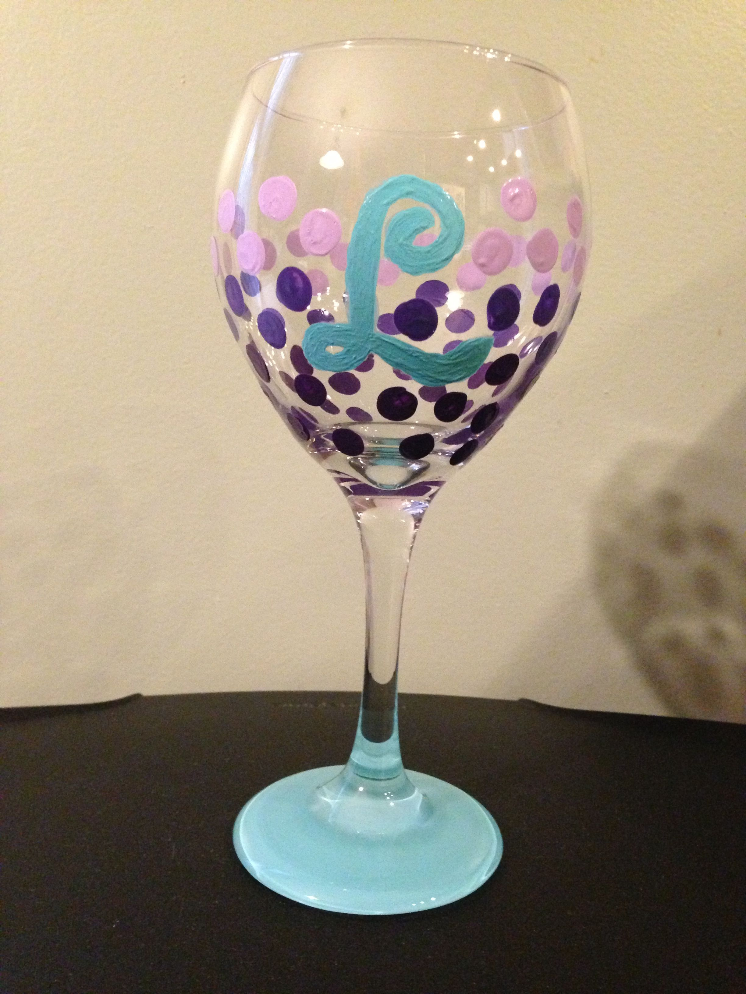 diy wine glass folk art enamel paints from michaels on a